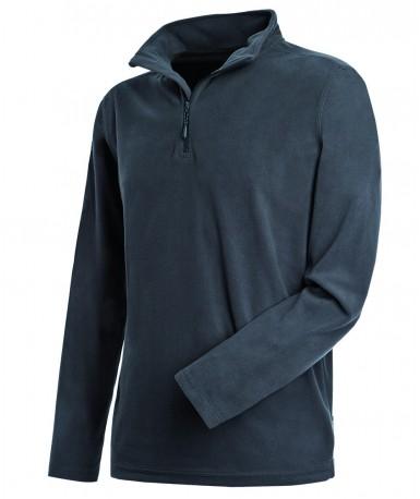 Flis pulover s poludugim zatvaračem za muškarce ST5020GRS (Grey Steel)