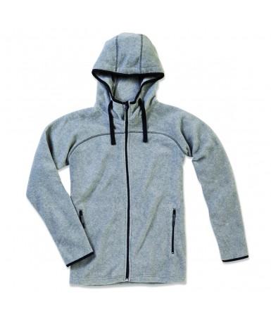Flis jakna s kapuljačom za muškarce ST5040GYH (Grey Heather)
