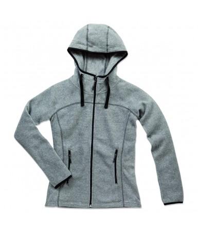 Flis jakna s kapuljačom za žene ST5120GYH (Grey Heather)