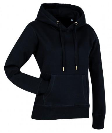 Pamučna majica s kapuljačom za žene ST5700BLO (Black Opal)