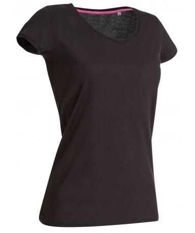 Majica s V-izrezom za žene ST9130BLO (Black Opal)