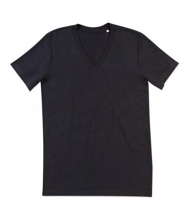 Majica s V-izrezom za muškarce ST9210BLO (Black Opal)