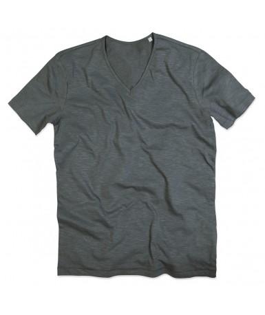 Majica s V-izrezom za muškarce ST9410SLG (Slate Grey)