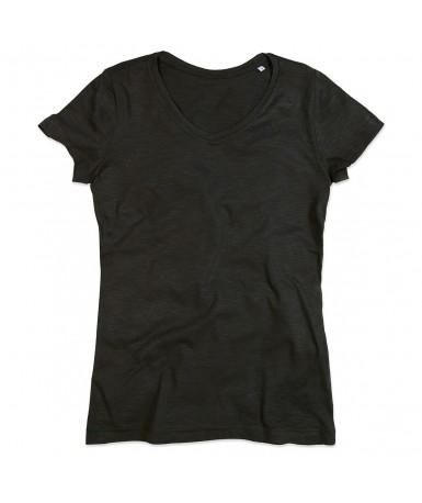 Majica s V-izrezom za žene ST9510BLO (Black Opal)