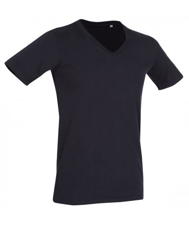 Majica s dubokim V-izrezom za muškarce ST9690BLO (Black Opal)