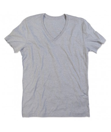 Majica s V-izrezom za muškarce ST9810GYH (Grey Heather)