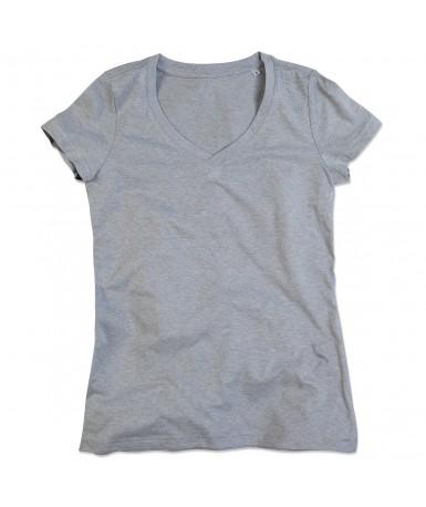 Majica s V-izrezom za žene ST9910GYH (Grey Heather)
