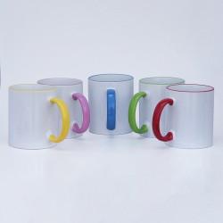 Sublimacijska šalica s ručkom u boji | SM-10