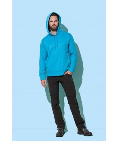 Flis pulover s kapuljačom za muškarce ST5800