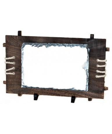Kamena foto ploča na drvenom okviru 26*18 cm | SH39