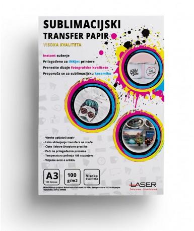 Papir za sublimaciju A3 VISOKA KVALITETA, 100 listova  TP002