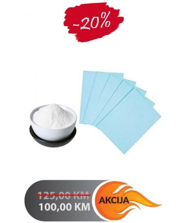 Termo set, prah i papir za sublimaciju A4, 125 listova | V24