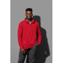 ST5020 | Flis pulover s poludugim zatvaračem za muškarce