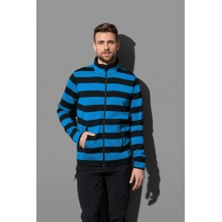ST5090 | Active Striped Fleece Jacket za muškarce