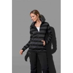 ST5190 | Active Striped Fleece Jacket za žene